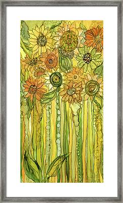 Sunflower Garden Bloomies 2 Framed Print