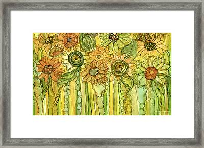 Sunflower Garden Bloomies 3 Framed Print