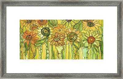 Sunflower Garden Bloomies 4 Framed Print