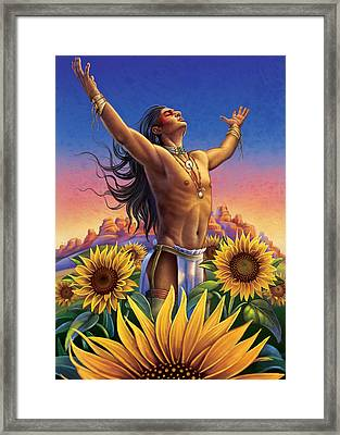 Sunflower - Glorious Success Framed Print by Anne Wertheim