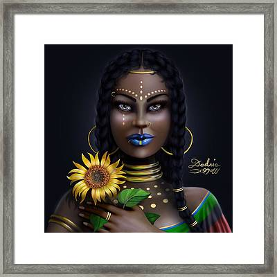 Sunflower Goddess  Framed Print