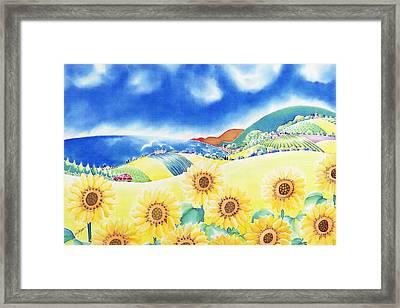Sunflower Hills Framed Print