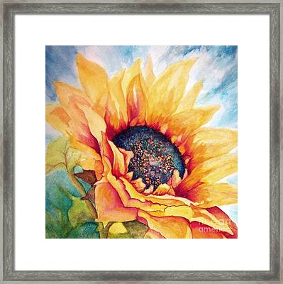 Sunflower Joy Framed Print