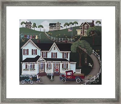 Sunflower Lane Framed Print