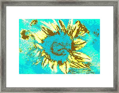 Sunflower Framed Print by Lessandra Grimley