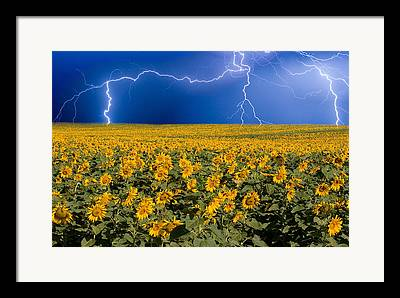 Lightening Framed Prints
