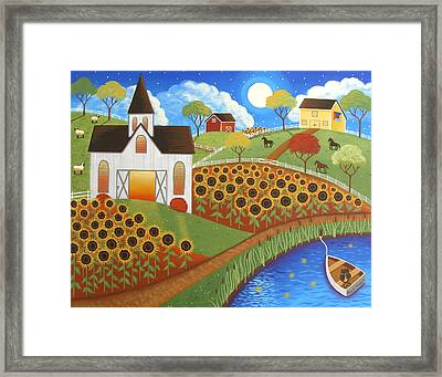 Sunflower Love Framed Print by Mary Charles