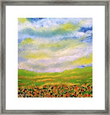 Sunflower Meadow Framed Print by Sylvia Scianname