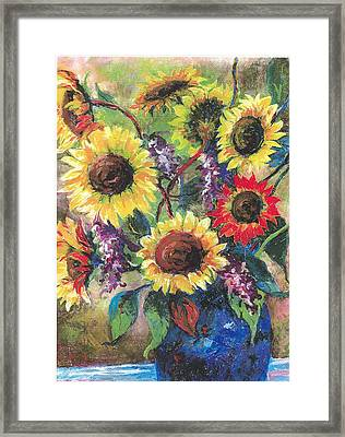 Sunflower Medley Framed Print by Grace Goodson
