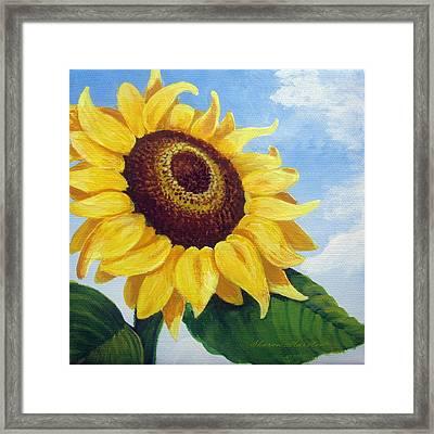 Sunflower Moment Framed Print by Sharon Marcella Marston