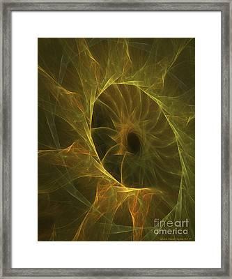 Sunflower Nebula Framed Print by Sandra Bauser Digital Art