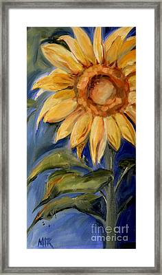 Sunflower Oil Painting Framed Print by Maria's Watercolor