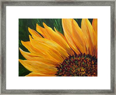 Sunflower Oil Painting Framed Print by Mary Jo Zorad