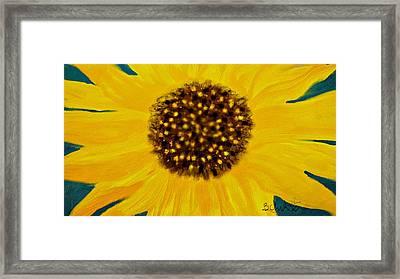Sunflower Painting Framed Print