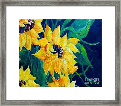 Sunflower Party Framed Print by Eloise Schneider