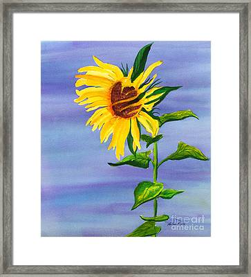 Sunflower Framed Print by Pauline Ross