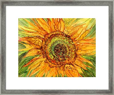 Sunflower Power Framed Print