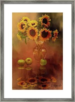 Sunflower Reflections Framed Print by Theresa Campbell