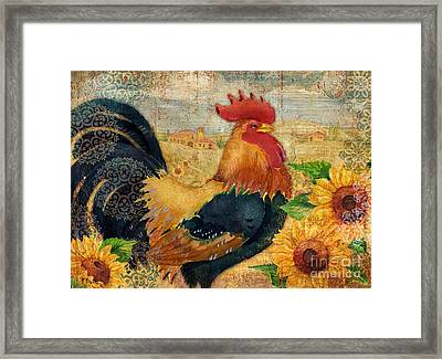 Sunflower Roost Framed Print by Paul Brent