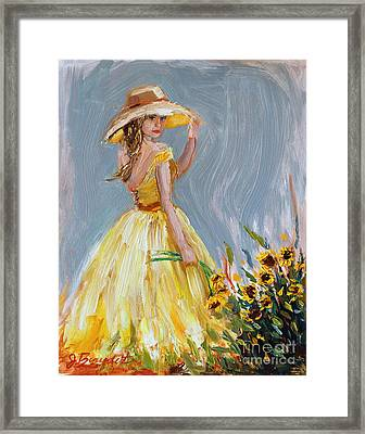 Sunflower Seduction Framed Print by Jennifer Beaudet