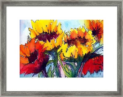 Sunflower Serenade Framed Print by Anne Duke