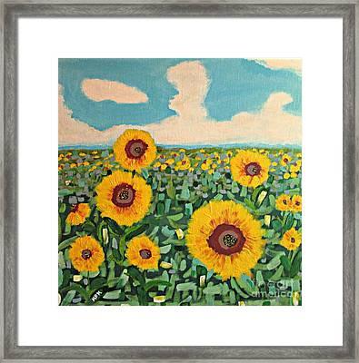 Sunflower Serendipity Framed Print