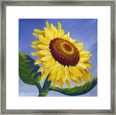 Sunflower Skies Framed Print by Sharon Marcella Marston