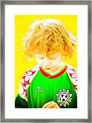 Sunflower Soccer Association Framed Print by Craig Perry-Ollila