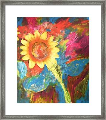 Sunflower Song Framed Print