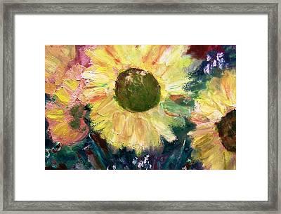 Sunflower Sparkle Framed Print