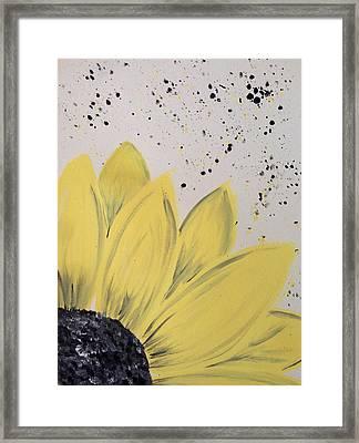 Sunflower Splatter Framed Print