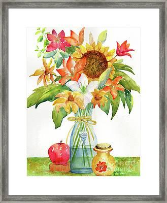 Sunflower Still Life Framed Print