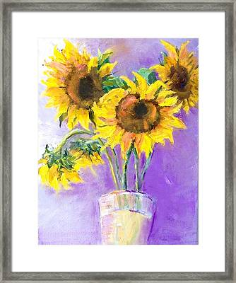 Sunflower Summer Framed Print