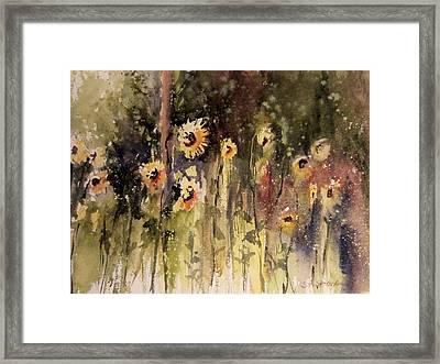 Sunflower Surprise Framed Print by Sandra Strohschein