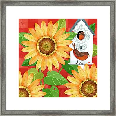 Sunflower Surprise Framed Print