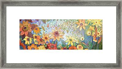 Sunflower Tropics Framed Print by Jennifer Lommers