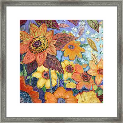 Sunflower Tropics Part 1 Framed Print