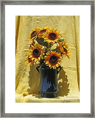 Sunflower Vase Framed Print by Garth Glazier