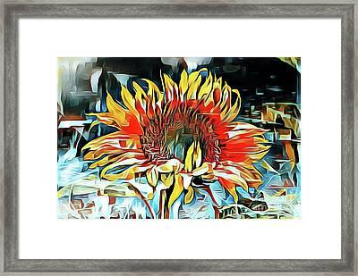 Sunflower 02 ...25.22 Macro Art Printing Framed Print