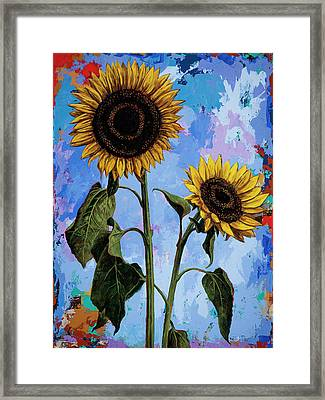 Sunflowers #1 Framed Print by David Palmer