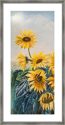 Sunflowers 1 Framed Print by Jana Goode