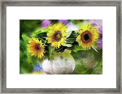 Sunflowers 13...26.16 Yellow Symbolised Happiness Framed Print