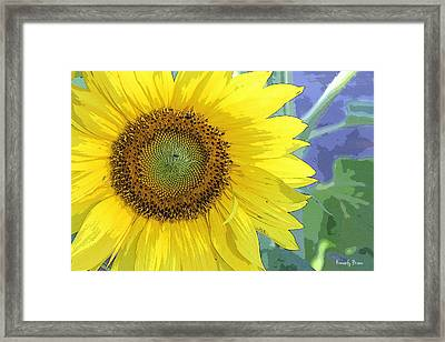 Sunflowers All Around Framed Print
