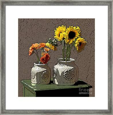 Sunflowers Framed Print by Anthony Forster
