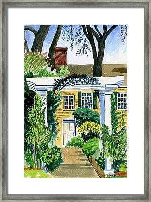 Sunflowers  At Florence Griswold Framed Print