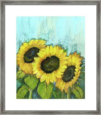 Sunflowers Framed Print by Blenda Studio