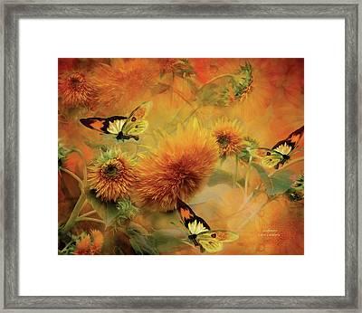Sunflowers Framed Print by Carol Cavalaris