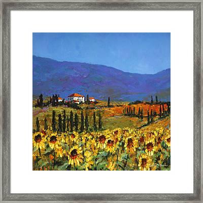Sunflowers Framed Print by Chris Mc Morrow