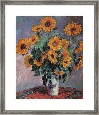 Sunflowers Framed Print by Claude Monet