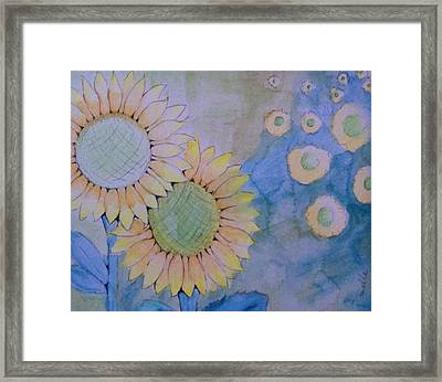 Sunflowers Framed Print by Donielle Boal